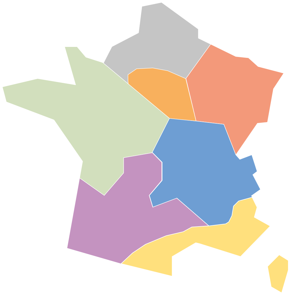 Map of Sempatap commercial representatives in France