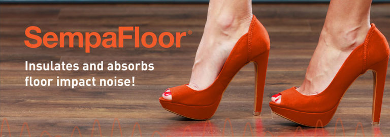 Discover SempaFloor, a soundproofing solution for floors, which stops footsteps and floor impact noises.