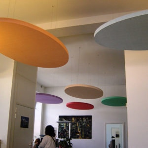 ABSOPANEL sound absorbing panels come in a wide range of colours.