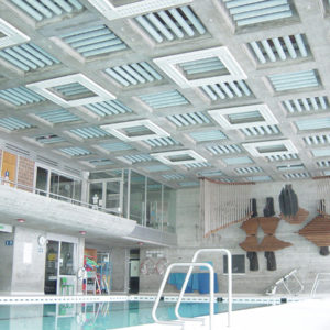 ABSOPANEL sound absorbing panels can be used to improve the acoustics of a wide variety of public spaces, from swimming pools to conference rooms.