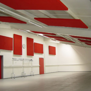 ABSOPANEL sound absorbing panels are suitable for mounting on the wall or ceiling, and provide excellent acoustic correction in all noisy spaces.