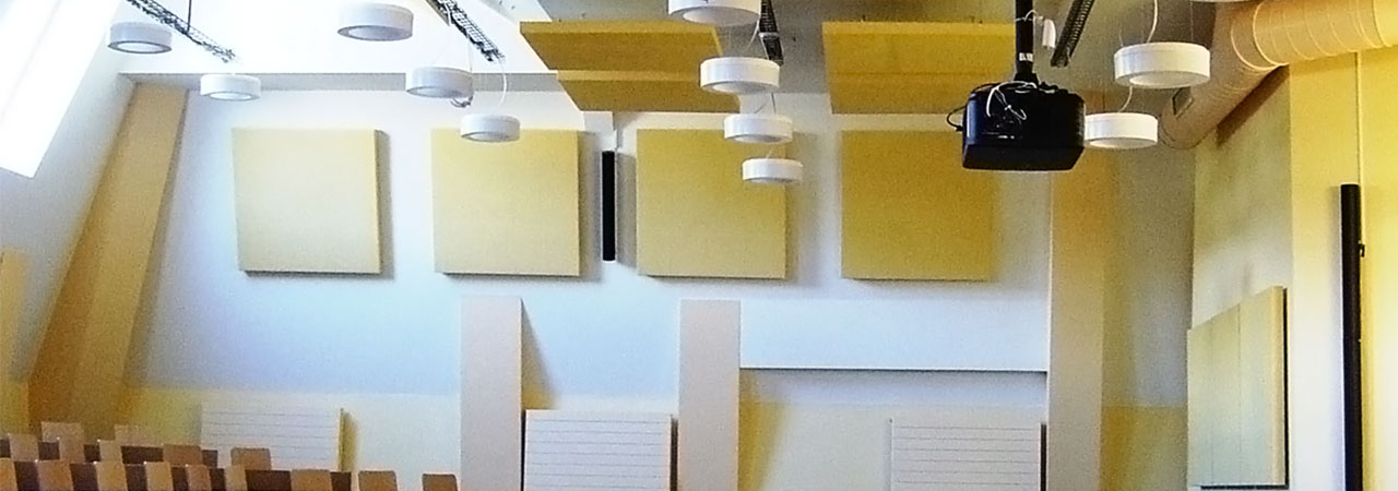 With ABSOPANEL sound absorbing panels, improve acoustic comfort and absorb internal noises.