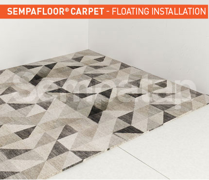 SempaFloor Carpet, soundproofing under carpet