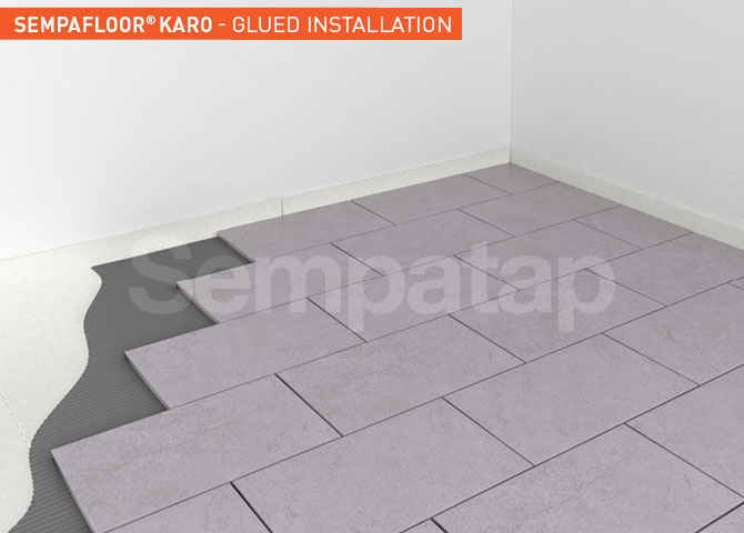 SempaFloor Karo, sound proof insulation under tiles