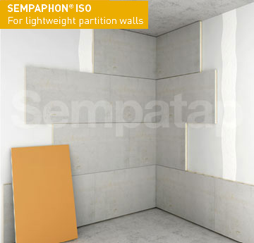 SempaPhon ISO sound insulation is perfect for soundproofing walls or light partitions.