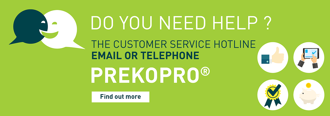 Need help or have a question about thermal insulation, soundproofing and sound absorption products?. Contact PREKOPRO, Sempatap's customer hotline.