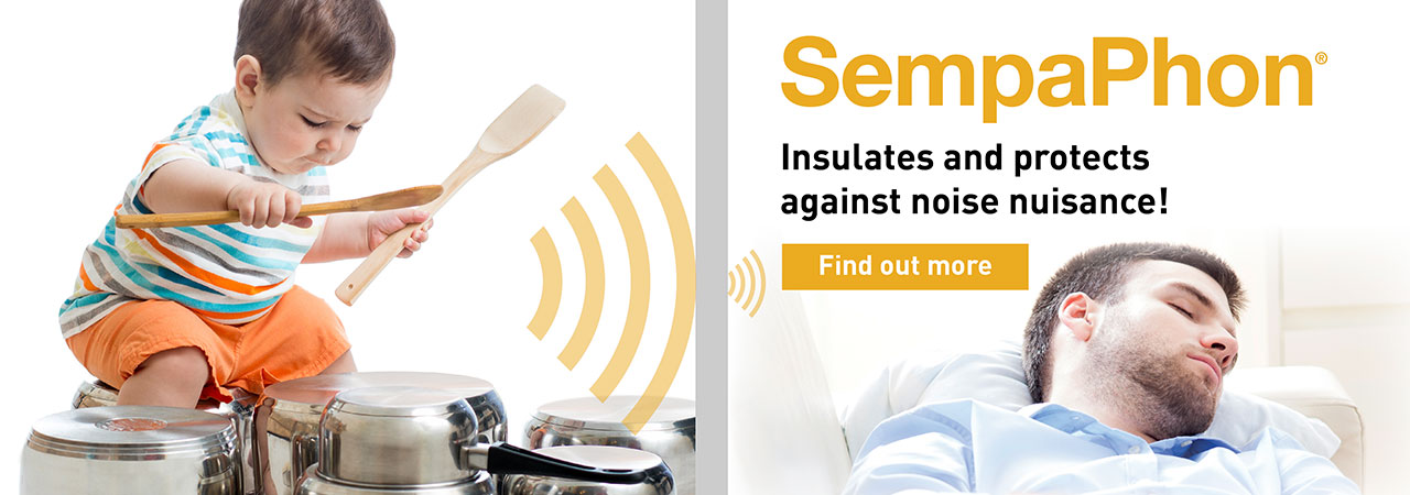 SempaPhon is a solution for soundproofing walls and internal partitions, which stops neighbourhood noise and noise nuisance.